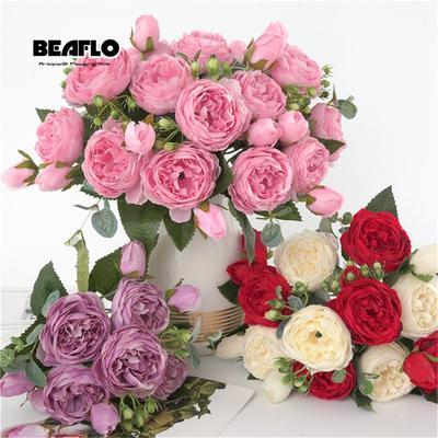 Bouquet de fleurs artificielles,...