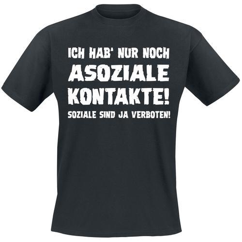 Asoziale Kontakte Herren-T-Shirt - schwarz