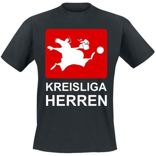 Kreisliga Herren Herren-T-Shirt - schwarz - Offizieller & Lizenzierter Fanartikel