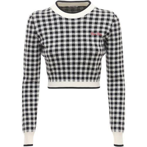 Miu Miu Bauchfreier Sweater Aus Wollstrick