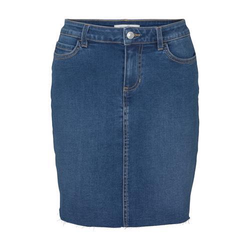 TOM TAILOR DENIM Damen Mini Jeansrock, blau, Gr.S