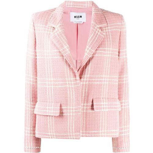 MSGM Tweed-Blazer mit Waffelmuster
