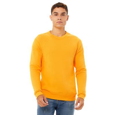 Bella + Canvas 3901 Sponge Fleece Crewneck Sweatshirt in Gold size 2XL   Triblend