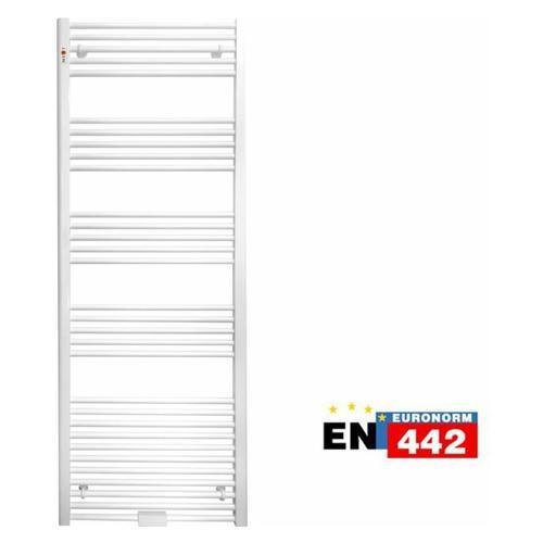 Mert - Badheizkörper Standard gerade Form Breite 900mm x Höhe 700mm, mit Mittelanschluss und