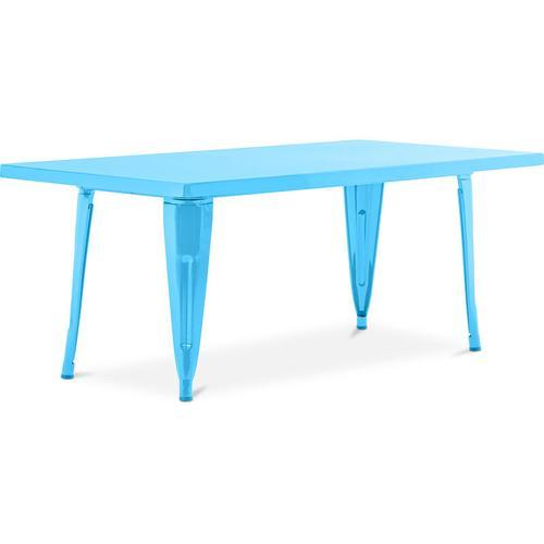 Style Tolix Kindertisch 120 cm - Metall Turquoise