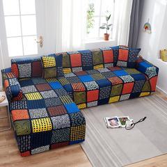 Housse extensible pour canapé, motif écossais, pour salon, en Spandex, compatible avec canapé