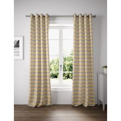 Marks & Spencer Chenille New Triangle Eyelet Curtains - Ochre - WDR72