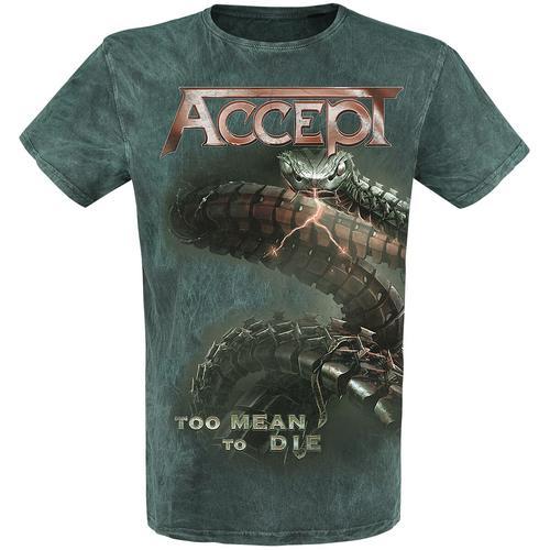 Accept Too Mean To Die Herren-T-Shirt - grün - Offizielles Merchandise