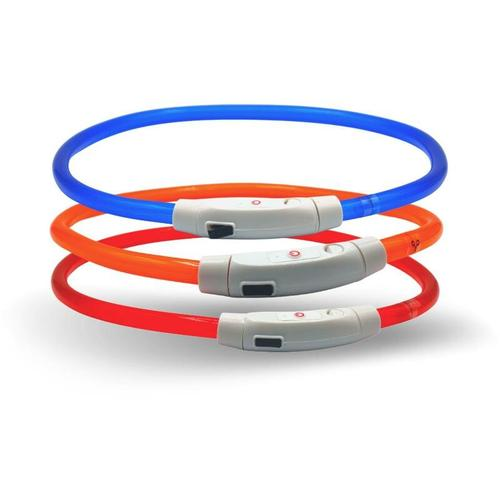 1 Stk. ® LED Halsband 70 cm orange - Lyra Pet