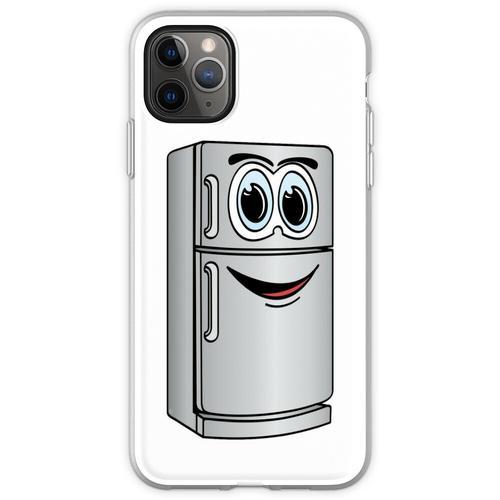 Edelstahl-Kühlschrank-Cartoon Flexible Hülle für iPhone 11 Pro Max