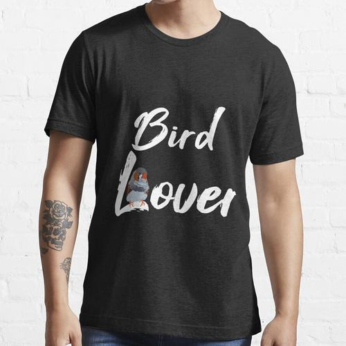 Vogelliebhaber, Bird lover, Zebrafink, Finken, Zebrafinken, Zebrafink schaukelt au Essential T-Shirt