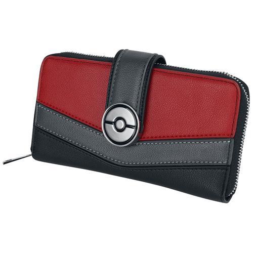 Pokémon Pokeball Geldbörse - schwarz rot - Offizieller & Lizenzierter Fanartikel