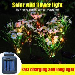 Lumière de jardin imperméable à l'énergie solaire, éclairage de jardin, décoration de fleurs, de