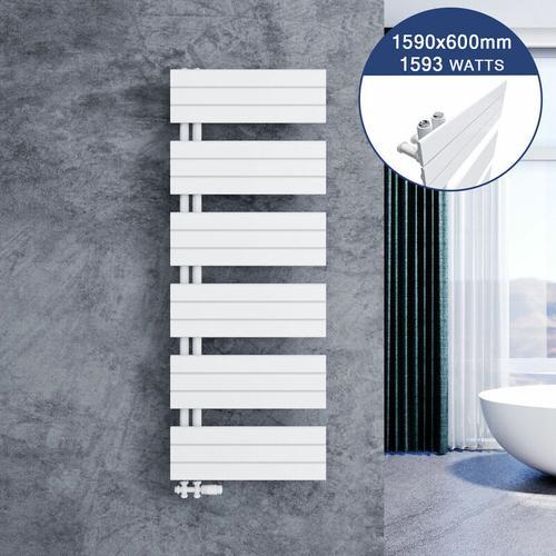 Badheizkörper Handtuchhalter 1590x600mm Handtuchtrockner mit Heizkörper thermostatkopf
