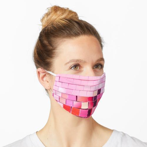 rosa Discokugel Maske
