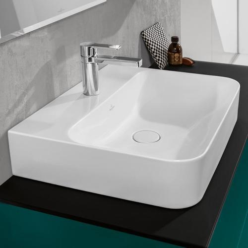 Villeroy & Boch Finion Waschtisch B: 60 T: 47 cm weiß mit CeramicPlus, geschliffen, ohne Überlauf 41686LR1