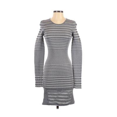 Alexander Wang Cocktail Dress - Bodycon: Gray Print Dresses - Used - Size Small