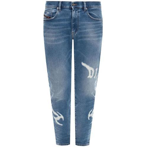 DIESEL D-Strukt Jeans mit roher Kante