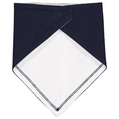 Rabbit Skins RS1012 Infant Premium Jersey Bandana Bib in Navy Blue/White   Cotton