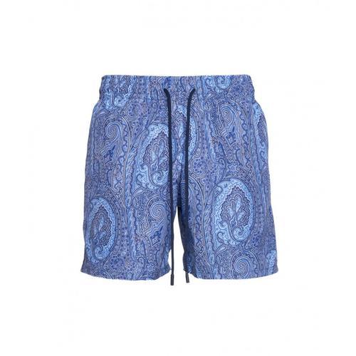 Etro Herren Badehose mit Paisley-Print Blau