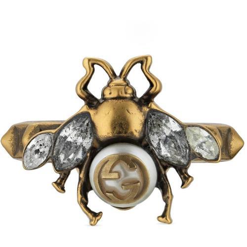 Gucci Bienen-Ring mit GG