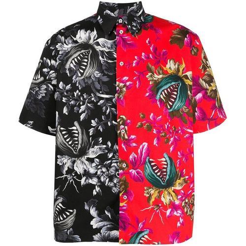 MSGM Zweifarbiges Hemd