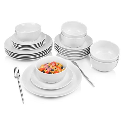 SÄNGER Tafelservice New Port, (24 tlg., Port aus Porzellan 24 teilig) weiß Geschirr-Sets Geschirr, Tischaccessoires Haushaltswaren