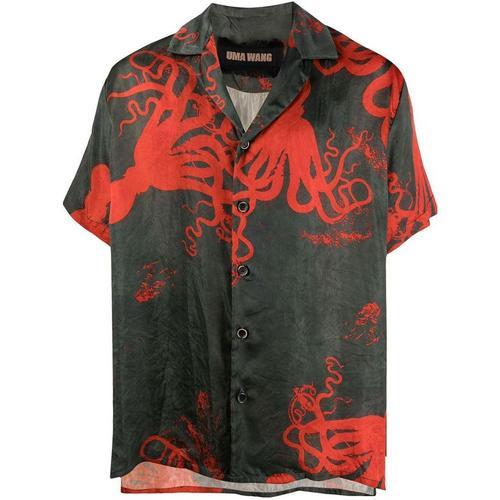 Uma Wang Hemd mit Tintenfisch-Print