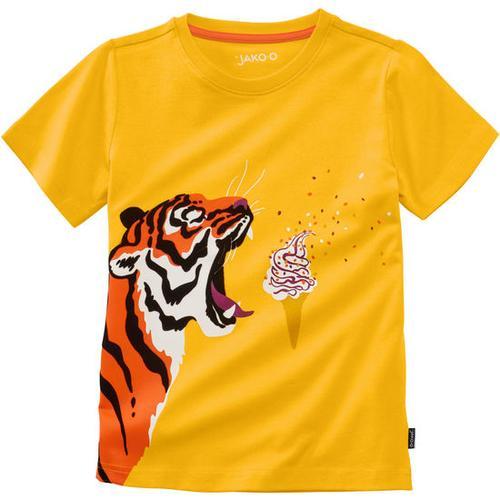 T-Shirt lustige Tiere, gelb, Gr. 128/134