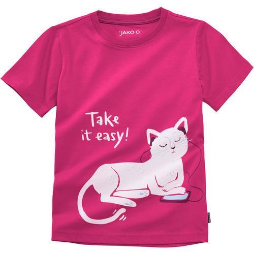 T-Shirt lustige Tiere, rot, Gr. 140/146