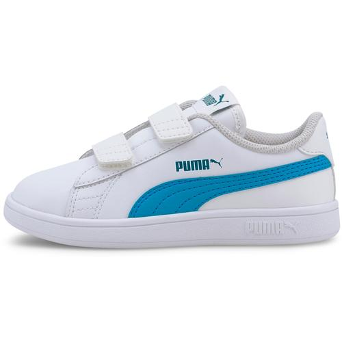 PUMA SMASH V2 Sneaker Kinder in puma white-dresden blue, Größe 29