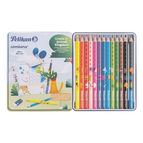 Set 12+1 Buntstifte/Bleistift »combino«, Pelikan