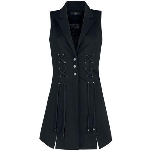 Black Premium by EMP Schwarze Weste mit ausgestelltem Saum Damen-Weste - schwarz