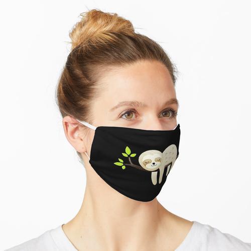 Faultierschlafbaum-Stickmuster Maske