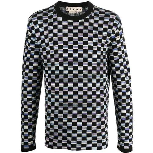 Marni Pullover mit Schachbrettmuster
