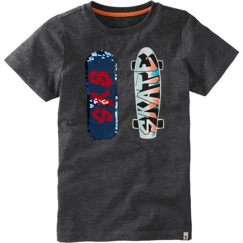 JAKO-O T-Shirt Wendepailletten, grau, Gr. 128/134