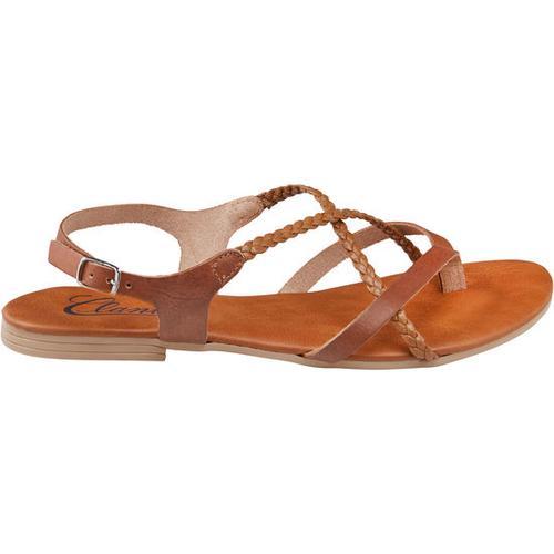 Sandale geflochten, braun, Gr. 36