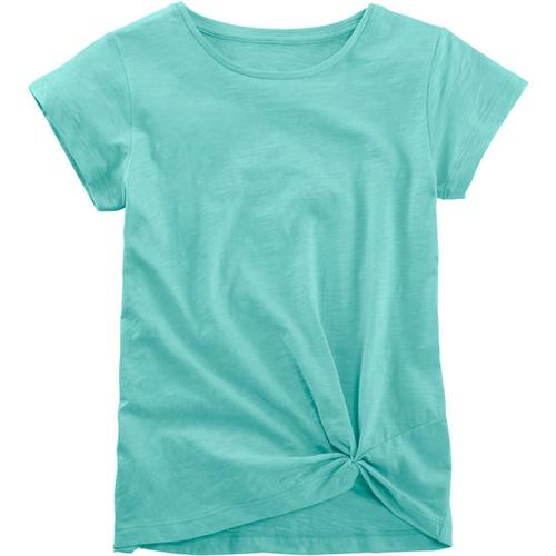 T-Shirt geknotet, türkis, Gr. 128/134