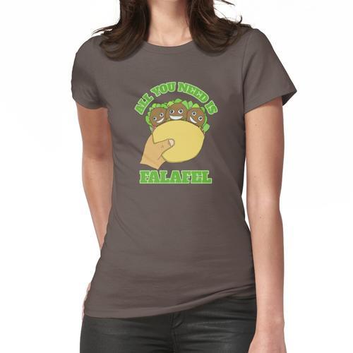 Alles was Sie brauchen ist Falafel - Happy Falafel Frauen T-Shirt