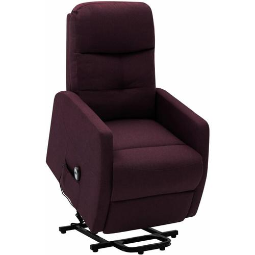 Vidaxl - Sessel mit Aufstehhilfe Lila Stoff
