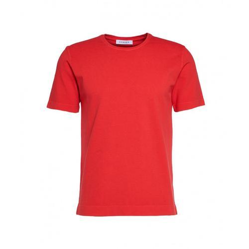 Gender Herren T-Shirt mit Struktur Rot