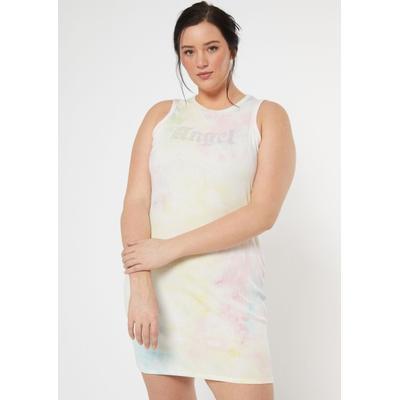 Rue21 Womens Plus Size Tie Dye Angel Rhinestone Ribbed Dress - Size 2X