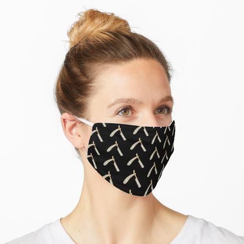 Rasiermesser gefrorenes Friseurhemd Maske