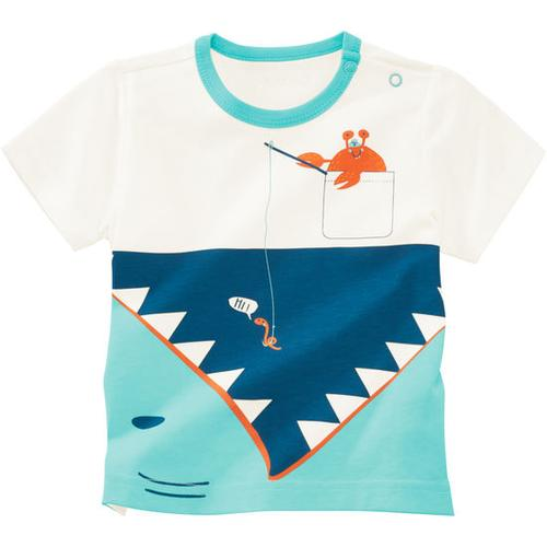 T-Shirt Unterwasserwelt, weiß, Gr. 68/74