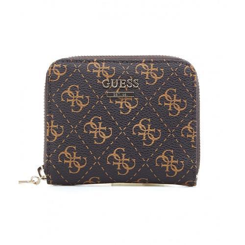 Guess Damen Brieftasche mit Logo Braun