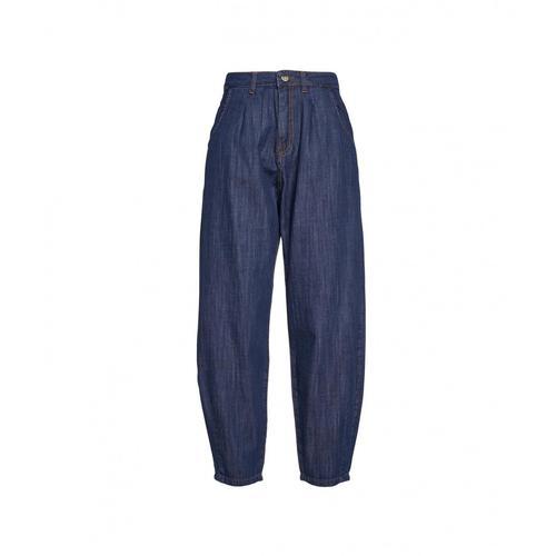 Kaos Damen Paper Bag Jeans Blau