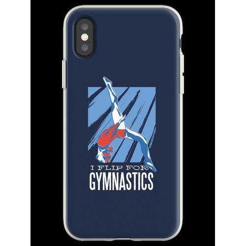 Gymnastik, Turnen, Bodenturnen, Flip, Sport, Frau Flexible Hülle für iPhone XS