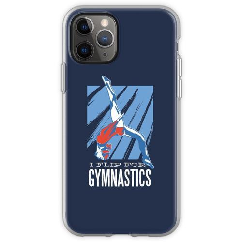Gymnastik, Turnen, Bodenturnen, Flip, Sport, Frau Flexible Hülle für iPhone 11 Pro