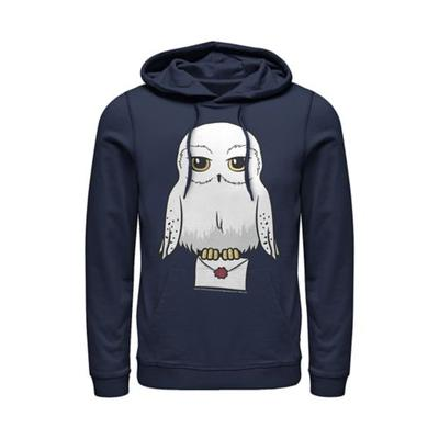 Harry Potter™ Navy Harry Potter Anime Hedwig Mail Fleece Graphic Hoodie