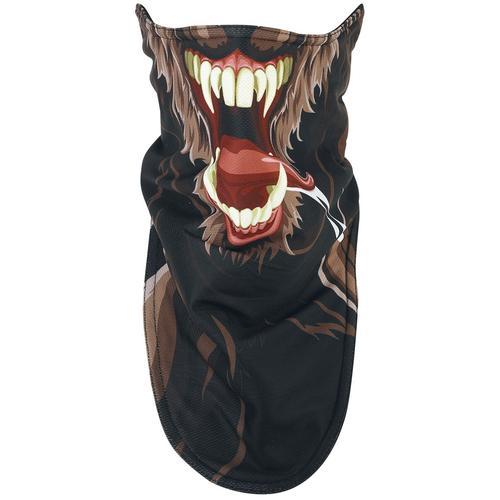 Werwolf Biker Mask Maske - schwarz braun